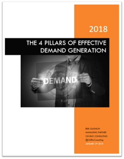 The 4 Pillars of Effective Demand Generation 2018 Whitepaper Cover Photo